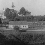 Kościół i klasztor w Tuchowie w październiku 1941 r.