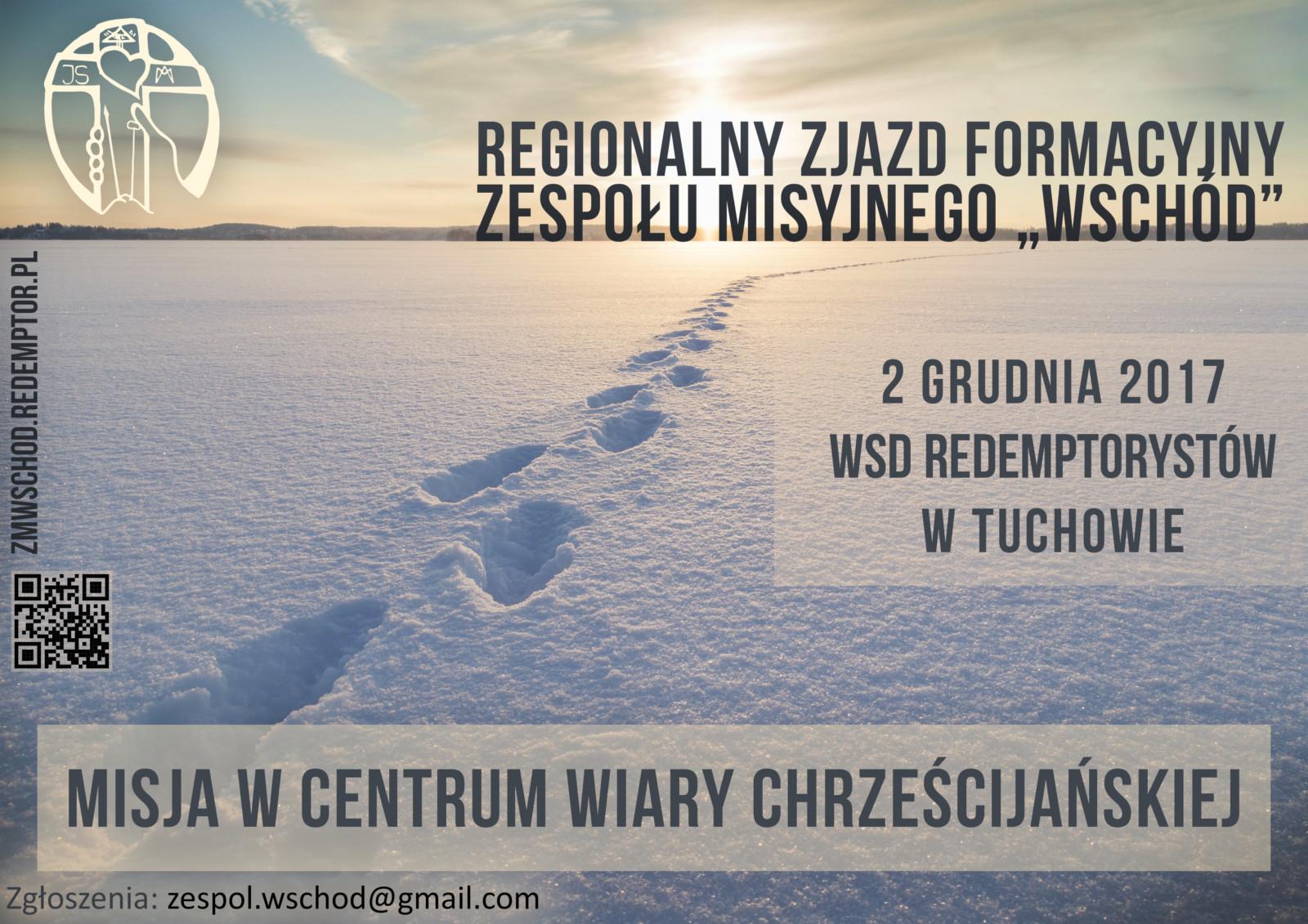 Plakat na zjazd formacyjny ZM Wschód - grudzień 2017