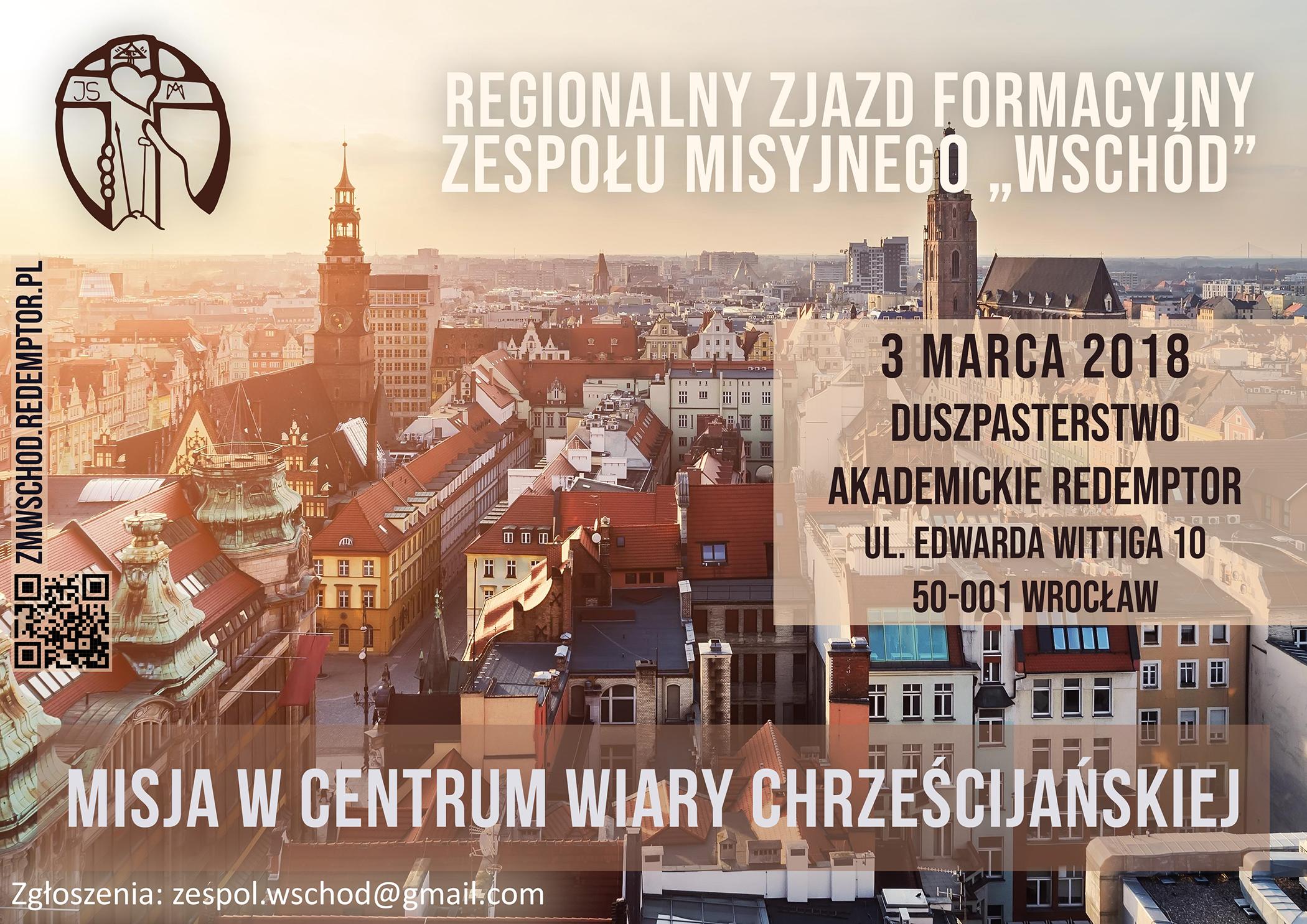 Plakat na zjazd formacyjny ZM Wschód - marzec 2018