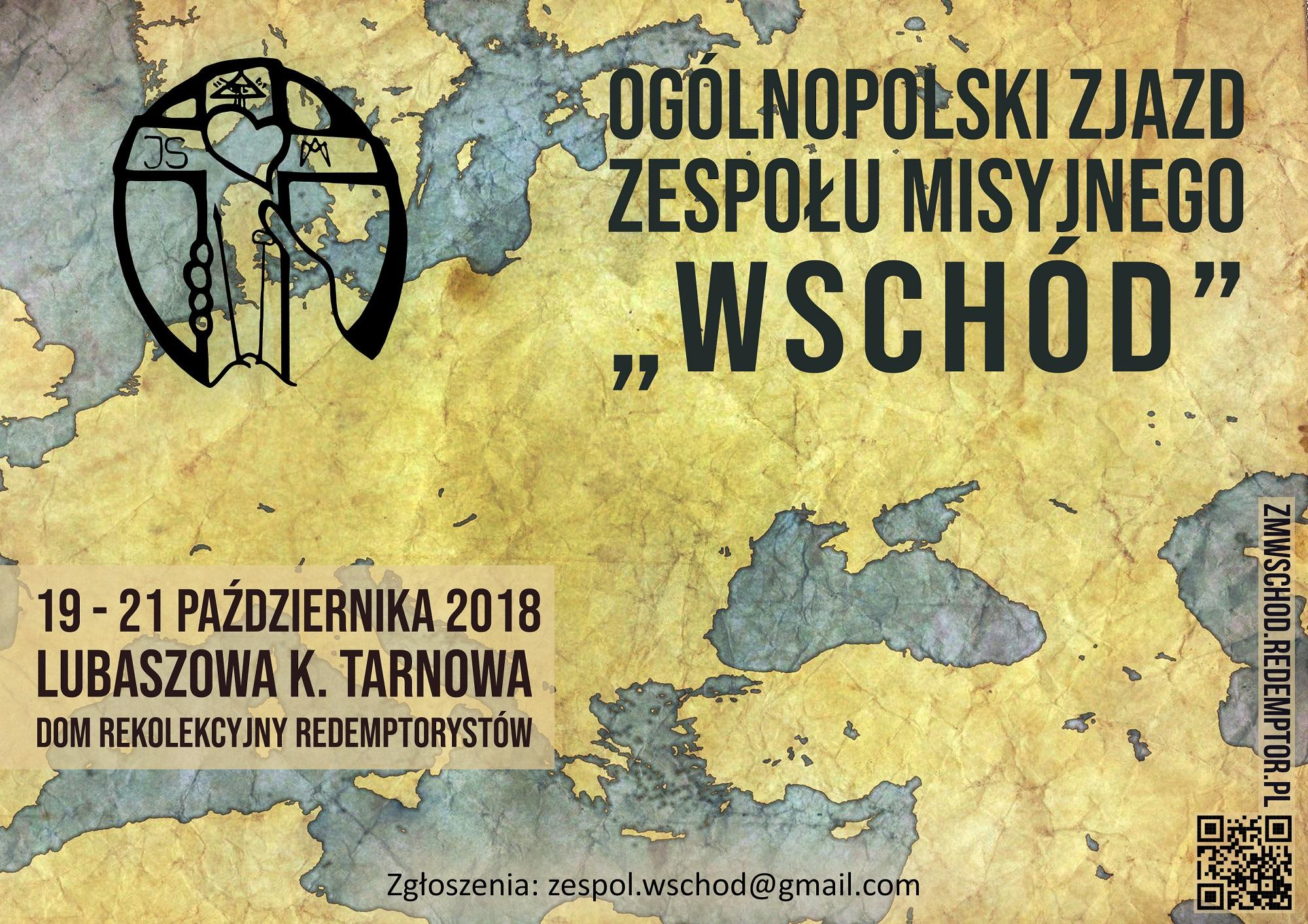 Plakat na zjazd formacyjny ZM Wschód - październik 2018